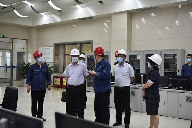 鹤壁市副市长郝志军赴鹤淇发电调研指导工作